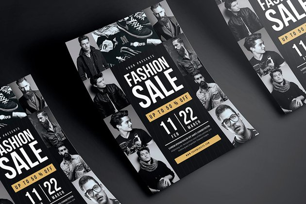 Fashion Sales Flyer Template (PSD)