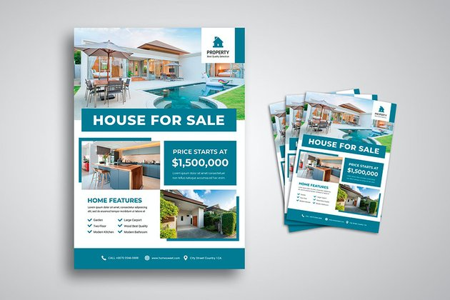 House For Sale Flyer Template (PSD)