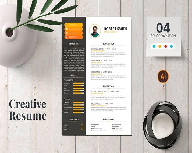 Resume template easy to skim