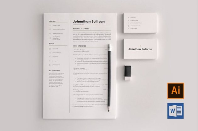 Word resume template with columns
