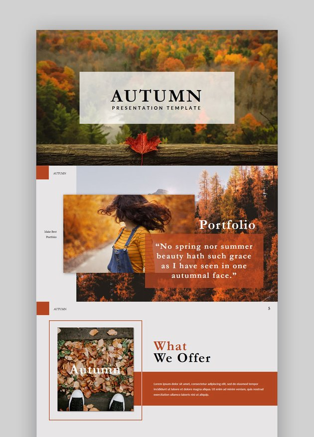 Autumn Stylish - Lookbook Powerpoint Template