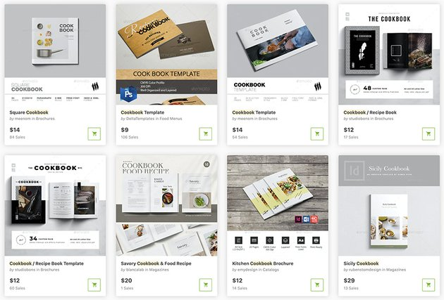 Do you need a single Adobe InDesign cookbook template? Visit GraphicRiver's library.