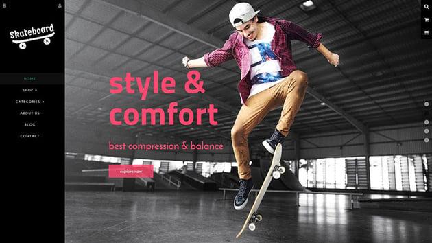 Skate board - Fullscreen Sports Shopify Theme