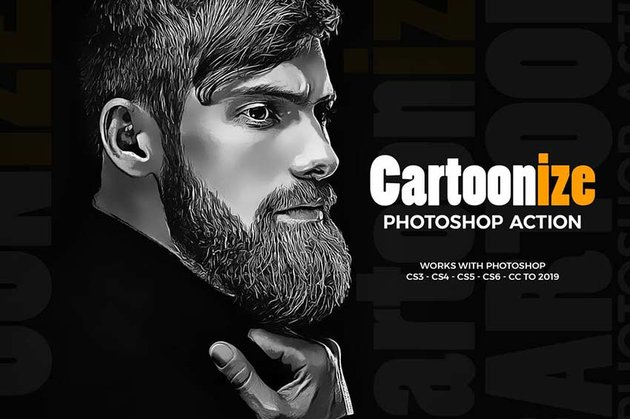 Cartoon Photoshop Action