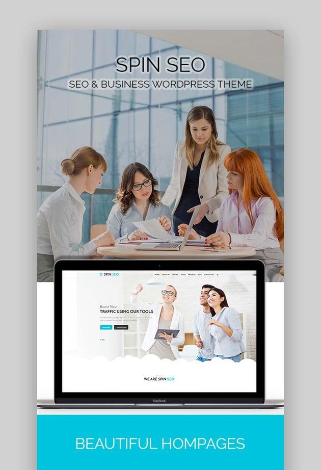 SPIN SEO - SEO  Business WordPress Theme