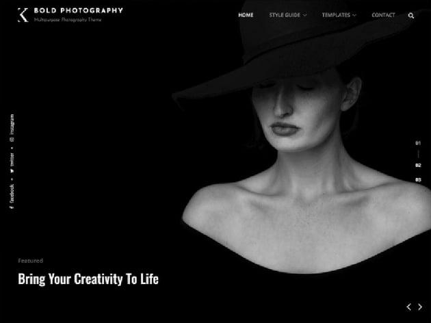 Bold Free Photography Theme