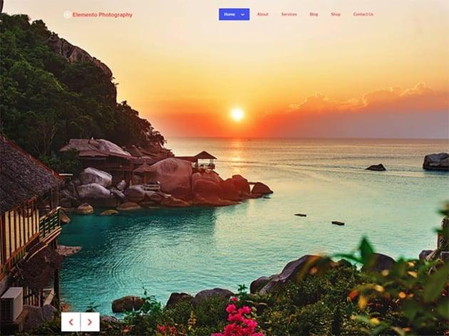 Elemento Photography Free Theme
