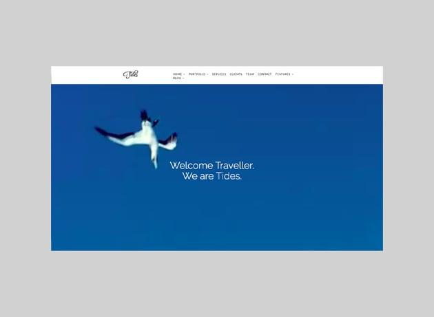 Tides - Fullscreen Video One-Page WordPress Theme