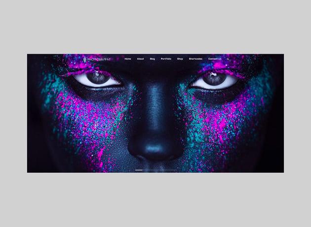 FullScreen Artist - Portfolio Photography WordPress Theme