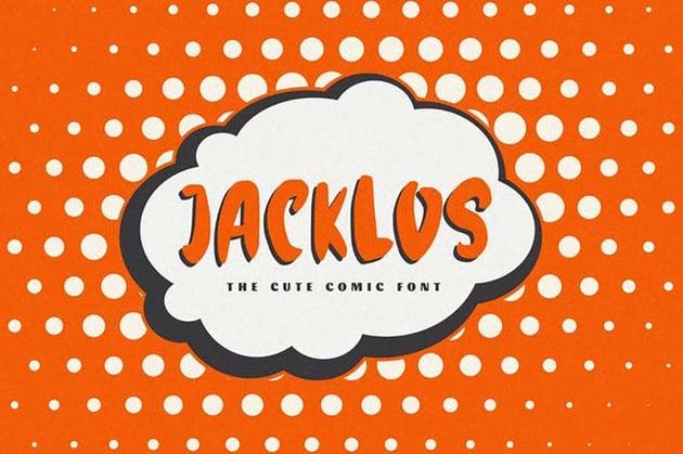 Jacklos - The Cute Comic Font