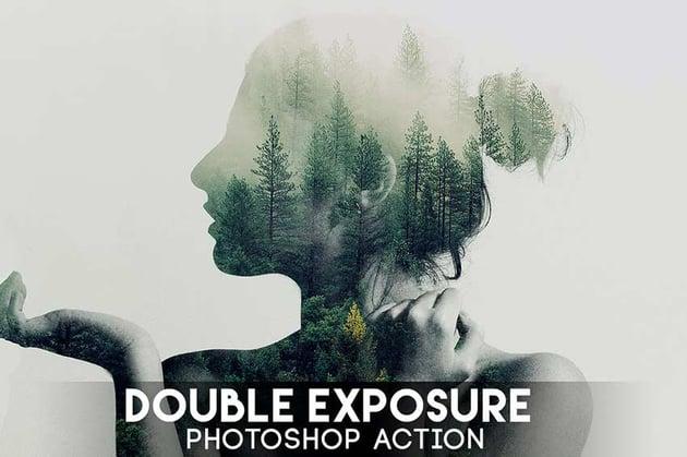 Double Exposure Photoshop Action