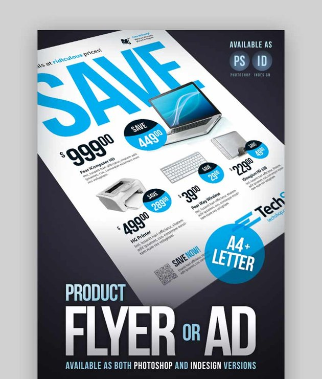 Product Flyer Technology Sale