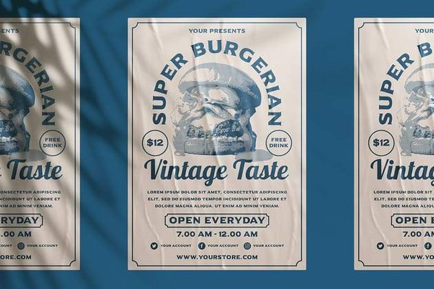 Vintage Burger Flyer