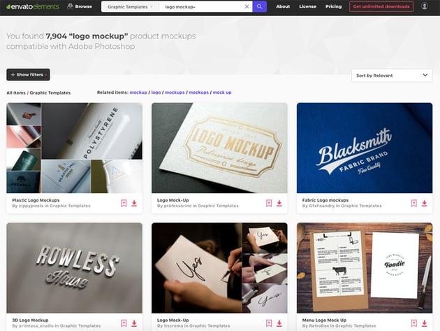 Envato Elements has thousands of professional logo mockup PSD templates
