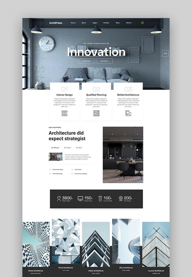 ArchiPres - Architecture & Interior Design WordPress Theme