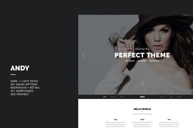 Andy - Elegant Creative Joomla Template