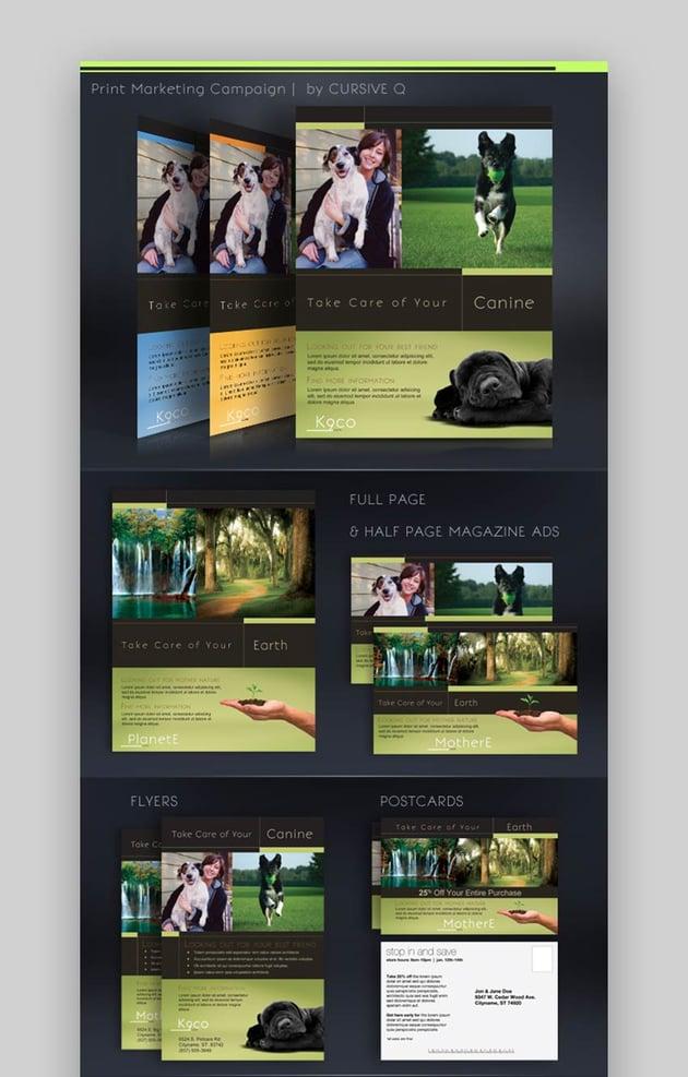 Print Marketing Campaign Template Set