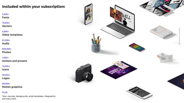 Envato Elements offers millions of creative digital assets for a monthly fee