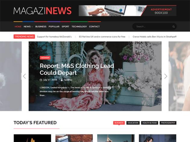 Magazinews Free WordPress News Theme