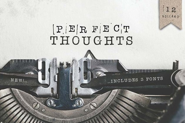 Perfect Thoughts Typewriter Font Tattoo