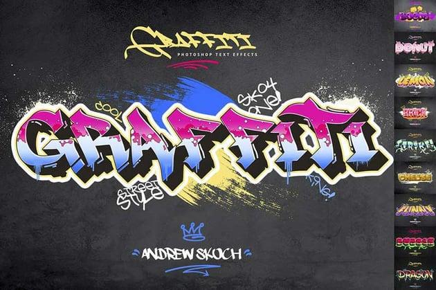 Graffiti Text Effect PSD