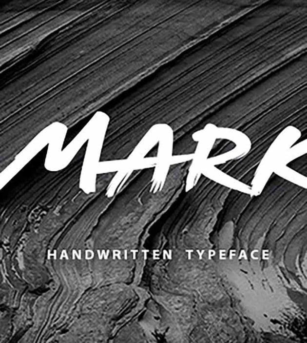Mark Handwritten Graffiti Font