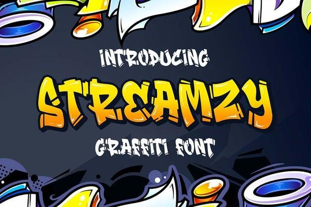 Streamzy - Graffiti Font