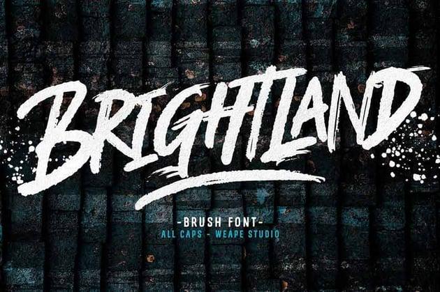 Brightland Brush Graffiti Font