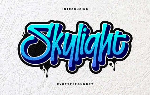 Skylight Graffiti Font