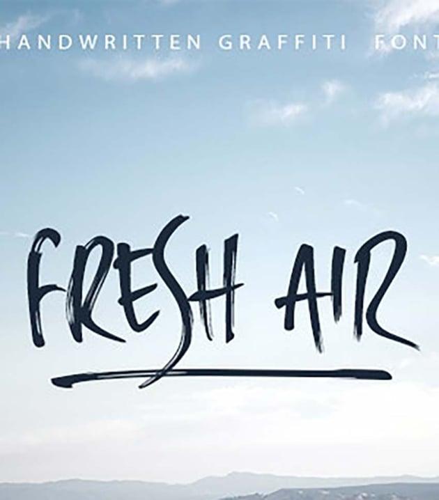 Fresh Air Handwritten Graffiti Font
