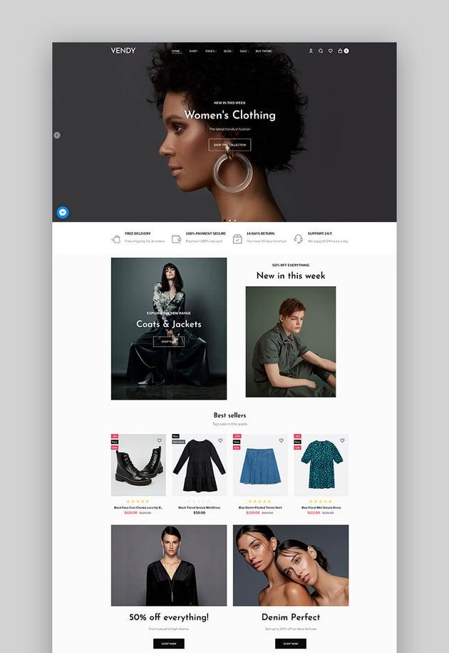 Vendy - Fashion Multipurpose Shopify Dropshipping Theme