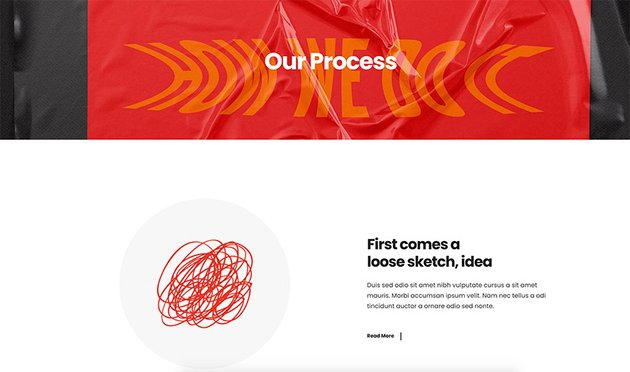 It's important to have a dedicated Process section in your graphic design portfolio website.