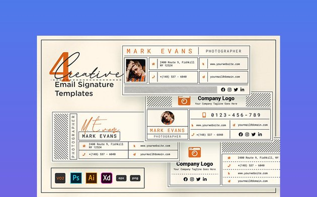 Creative Email Signature V02