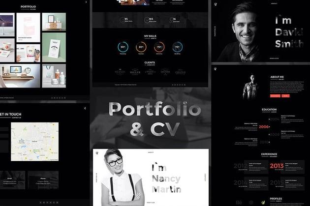 CV Portfolio - Portfolio Resume HTML Template