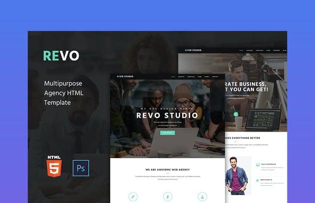 Revo Studio - Agency Onepage HTML Template