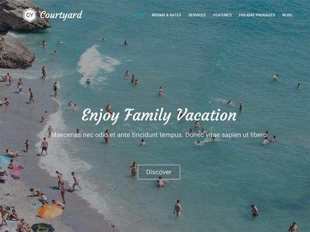 Courtyard - Free Hotel WordPress Theme
