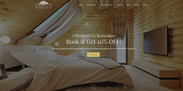 Use this premium bed and breakfast WordPress theme for your new B&B website.