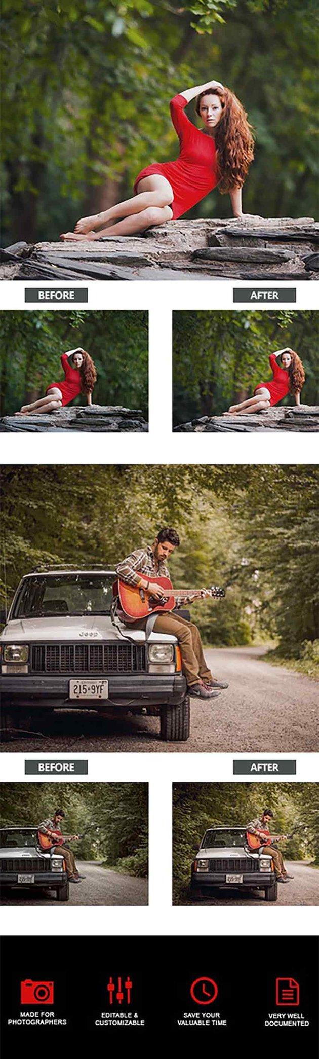 Portrait Photography Actions