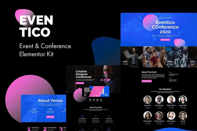 Eventico - Event  Conference Elementor Kit