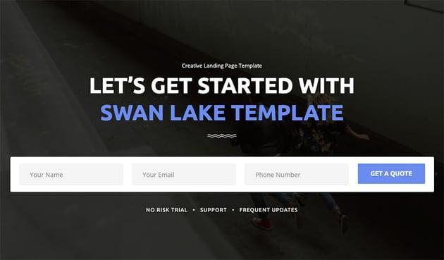 Swan Lake - Marketing Landing Page