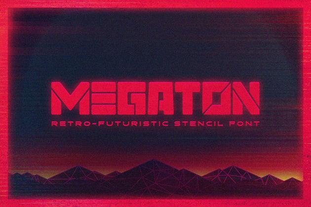 Megaton 80s Retro Font