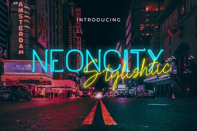Neoncity - Signature Neon Font