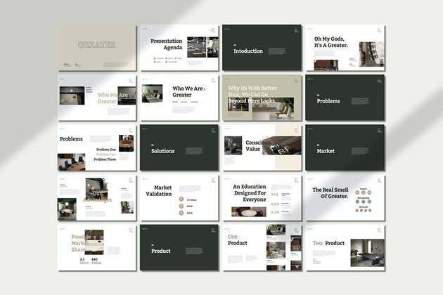 Greater - Best Pitch Deck Presentation Template