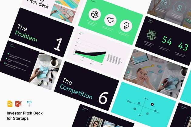 Startup Best Pitch Deck Presentation Template