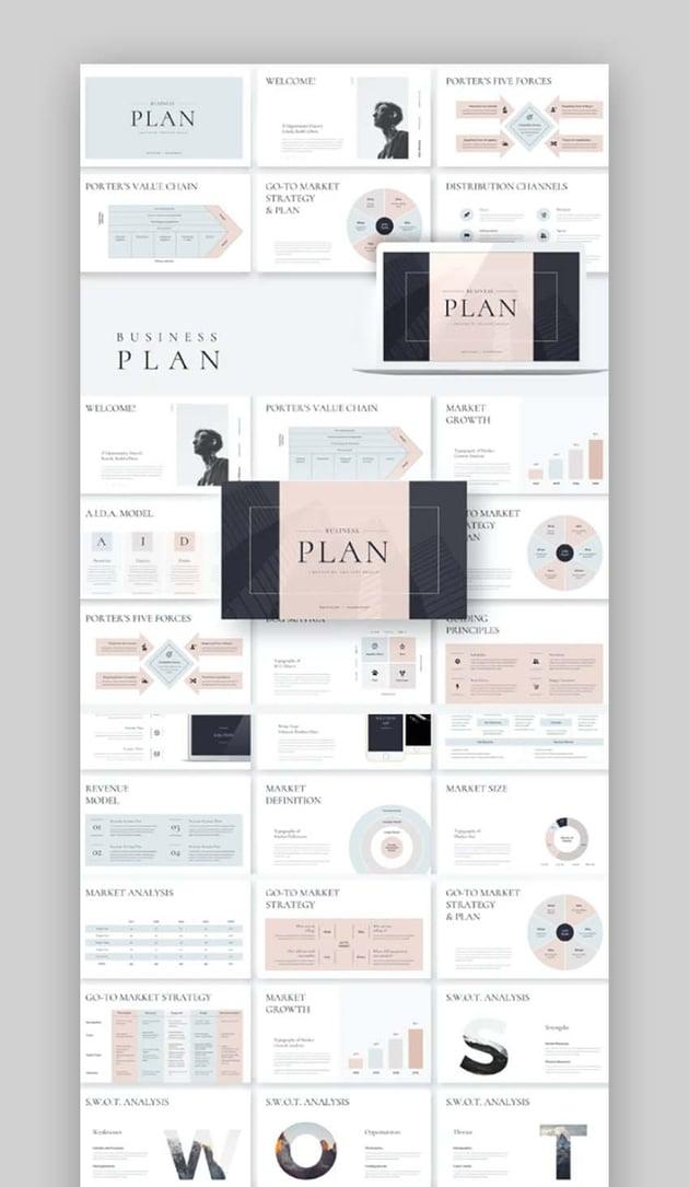 Minimalist Business Plan PowerPoint Template