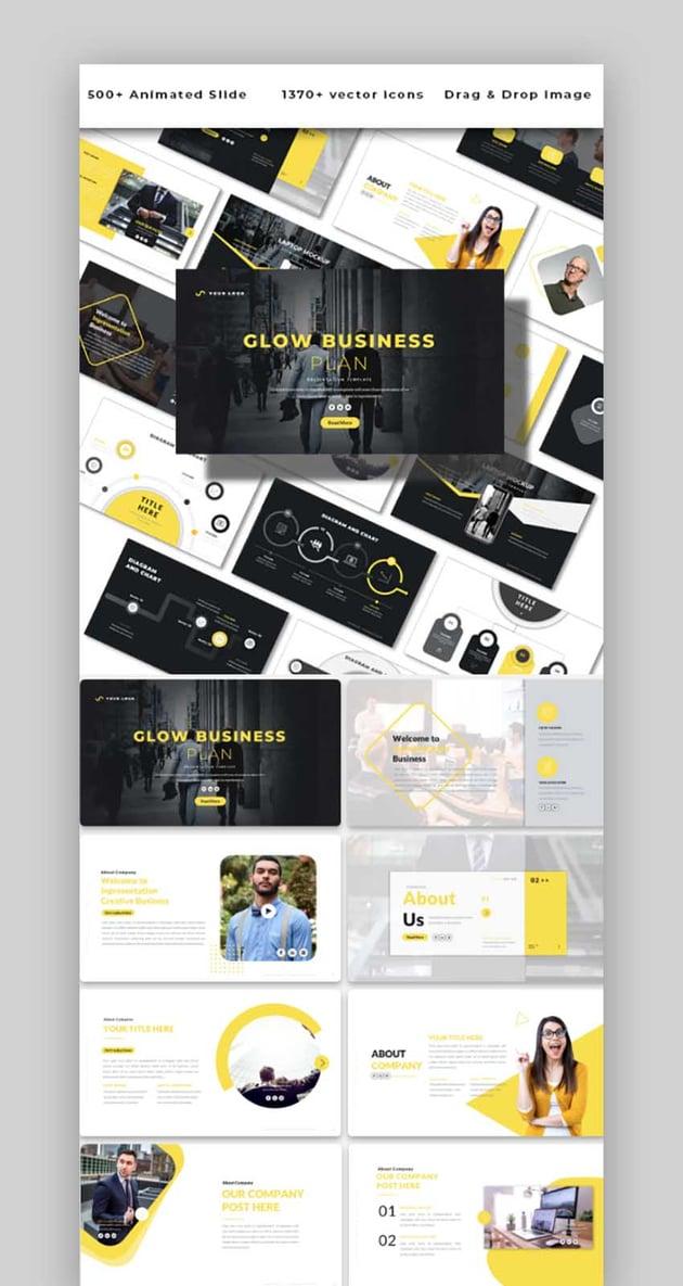Glow Business Plan - Powerpoint Template