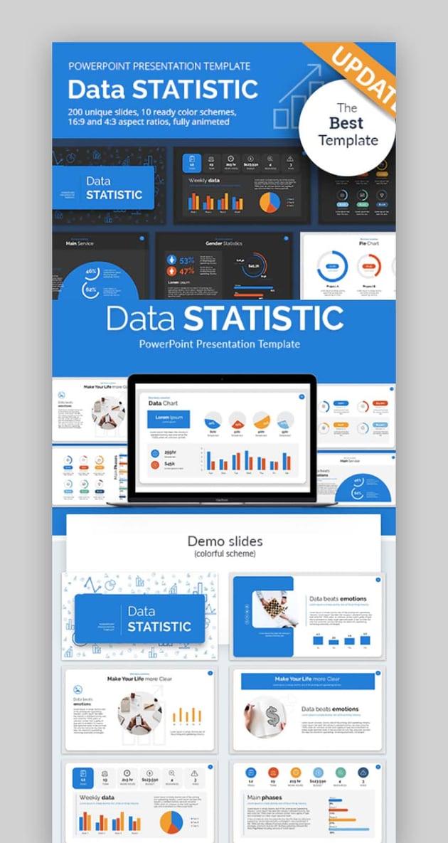 Data Statistic PowerPoint Presentation Template