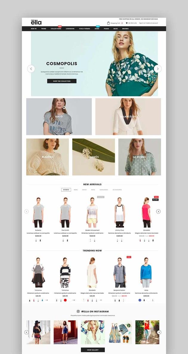 Ella - Multipurpose Shopify Sections Theme