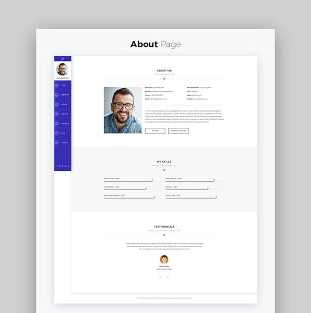 Rida - vCard Responsive Resume