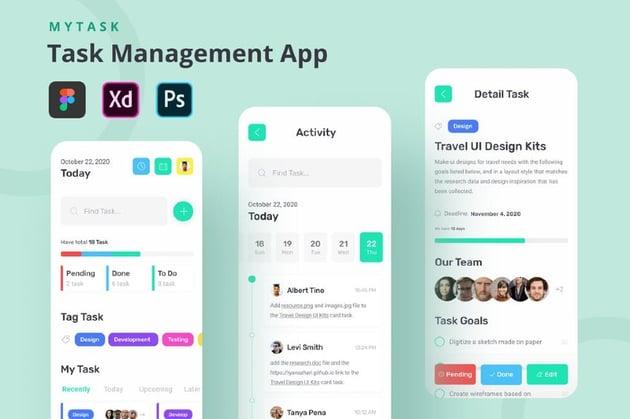 MyTask - Task Management App UI Kit